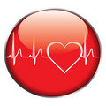 Heart rate button Royalty Free Stock Image