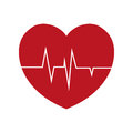 heart rate health cardiology symbol Royalty Free Stock Photo