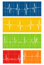 Heart reat set of rate monitor illustrations Royalty Free Stock Image