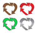 Heart recycle Stock Photo