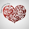 Heart red abstract tribal tattoo, decorative element