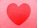 Heart red bright on pink background Royalty Free Stock Image