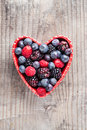 Heart of red fruit Royalty Free Stock Photo
