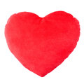 Heart red pillow, cushion Royalty Free Stock Photo