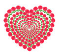 Heart from red roses Stock Photography