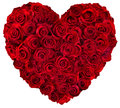 Heart of red roses Royalty Free Stock Photo