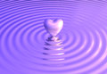Heart reflects on water waves Royalty Free Stock Photo