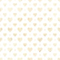 Heart repeat seamless pattern in white and beige Royalty Free Stock Photo