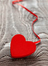Heart with ribbon Royalty Free Stock Images