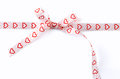 Heart ribbon Royalty Free Stock Image