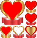 Heart with ribbon Stock Photos