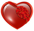 Heart with ribbon bow Stock Photos