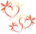 Heart Ribbon Greeting Card - S Royalty Free Stock Photography