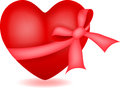 Heart with ribbon illustration of Stock Photos