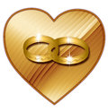 Heart with rings Royalty Free Stock Images