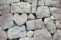 Heart rock wall Royalty Free Stock Photo