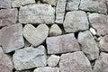 Heart rock wall Royalty Free Stock Photo