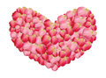 Heart of rose petals Royalty Free Stock Photography