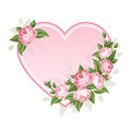 Heart and roses. Royalty Free Stock Photo