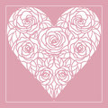 Heart of roses pink abstract Royalty Free Stock Photography