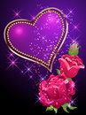Heart, roses and stars Royalty Free Stock Photo