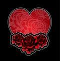 Heart and roses tatoo Royalty Free Stock Photo