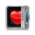 Heart in safe Stock Photography