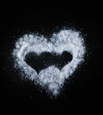 Heart of salt Stock Photos