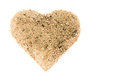 Heart from a sand Stock Photos