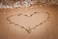 Heart on sand Royalty Free Stock Image