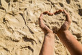 Heart from sand Royalty Free Stock Photo
