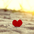Heart on the Sand Royalty Free Stock Photo