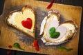 Heart Sandwich Shape Wood Boar...