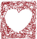 Heart scrapbook frame scalable vectorial image representing a isolated on white Royalty Free Stock Photo