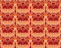 Heart seamless pattern background Stock Images