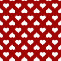 Heart seamless pattern for Valentines day card