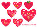 Heart set Stock Image
