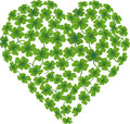 Heart shamrock Royalty Free Stock Photography