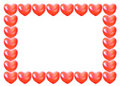 Heart shape balloon frame isolated Stock Image