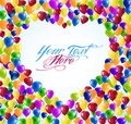 Heart shape balloons Royalty Free Stock Photography