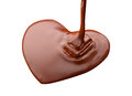 Heart Shape Chocolate Isolated