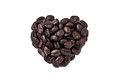 Heart shape by coffee beans Stock Image
