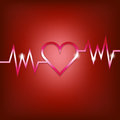 Heart shape concept with pulsation Royalty Free Stock Photo