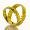 Heart shape of couple wedding ring Stock Photography