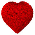 Heart shape covered with fur d rendered Royalty Free Stock Photography