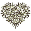 Heart shape with floral elements Stock Photo