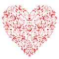Heart shape, floral ornament Stock Image