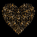 Heart shape, floral ornament for your design Stock Photo