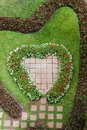 Heart shape garden Royalty Free Stock Photos
