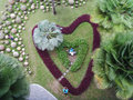 Heart shape garden in chonburi thailand Royalty Free Stock Images